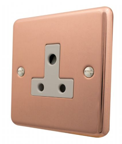 G&H CBC59W Standard Plate Bright Copper 1 Gang Single 5 Amp Plug Socket